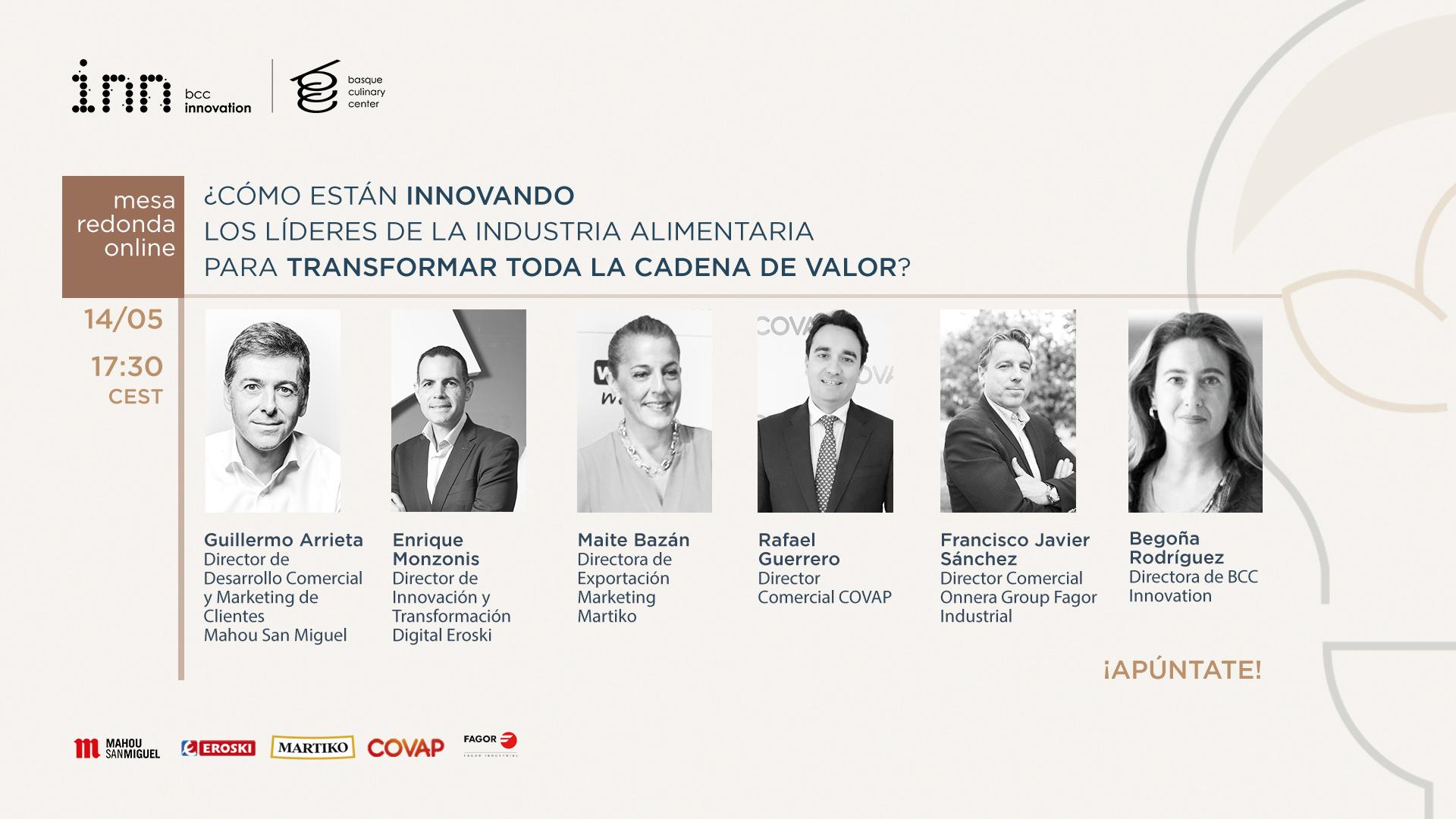 Mesa redonda online post-covid con Eroski, Mahou San Miguel, Martiko, Covap y Onnera Group