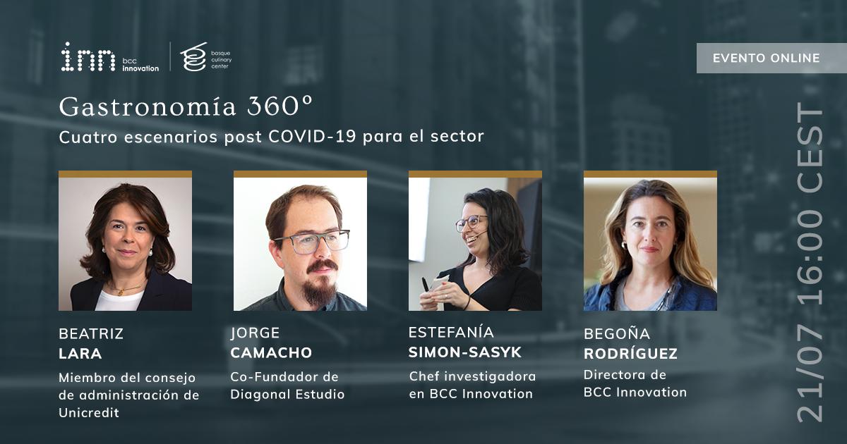 """PRESENTACIÓN DE """"GASTRONOMIA 360º CUATRO ESCENARIOS POST COVID-19"""" CON EXPERTOS EN PROSPECTIVA Y GASTRONOMÍA"""